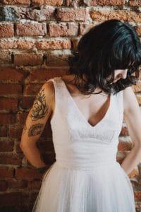 Sucombez au charme des fifties avec une robe de mariée de la collection Grease   Atelier 2B à Toulouse